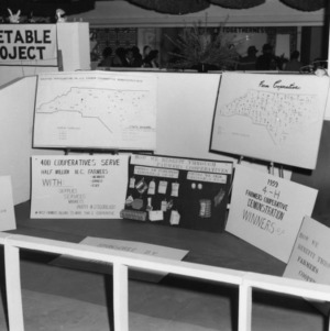 4-H exhibit at the North Carolina State Fair, created by Charles and Linda Lamm from Nash County, members of the 4-H citizenship program