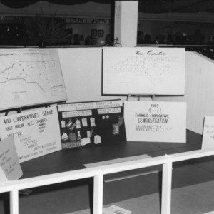 An exhibit at the North Carolina State Fair created by Charles and Linda Lamm from Nash County on the 4-H citizenship program