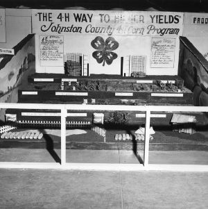 Johnston County, North Carolina, 4-H Club corn program exhibit at 1948 North Carolina State Fair