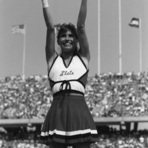 Wolfpack cheerleader