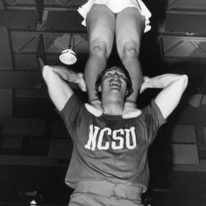 N. C. State cheerleaders
