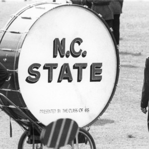 N.C. State base drum, presented by the class of '65