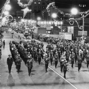 N.C. State marching band leads Christmas parade down Fayetteville Street