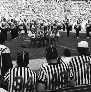 Halftime entertainment, N.C. State vs. University of South Carolina homecoming, 1974