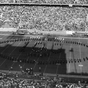 """N.C. State marching band spells out """"100"""""""