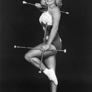 Diane Spence, featured twirler