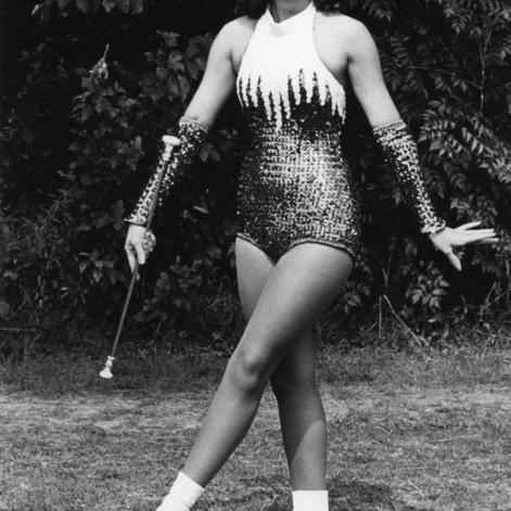 Majorette Jan Critcher