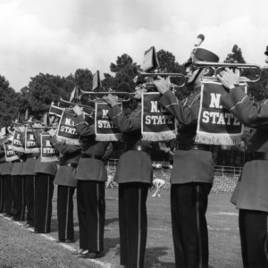 N. C. State band -- trumpet players