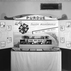Purdue University 4-H tractor exhibit, Chicago, Illinois