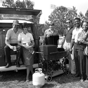 N. C. State fans tailgating before a football game