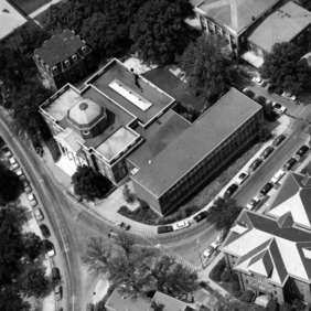 Aerial view of Brooks Hall