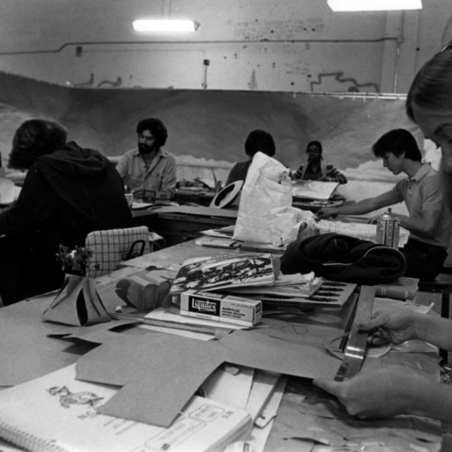 Design students at work in the classroom