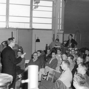 4-H club leader attending a lecture at a 4-H tractor project