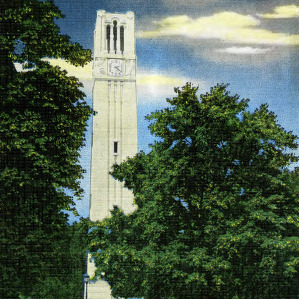 Clock Tower and Chimes War Memorial North Carolina State College