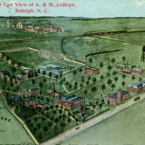 Birds Eye View of A and M College