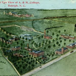 Birds-eye view of A&M College, 1911