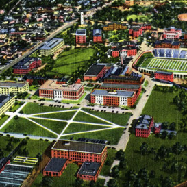 Aerial View of North Carolina State College