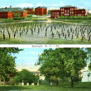 Two views of North Carolina State College