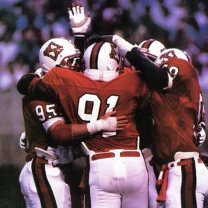 North Carolina State University players celebrate