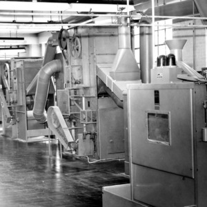 Textile machines, probably in Tompkins Hall