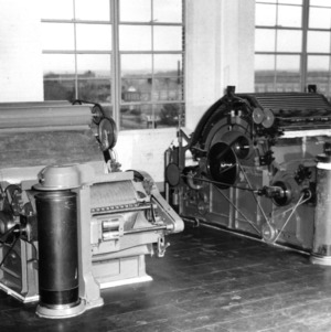 Machines in the Textile lab in Tompkins Hall?