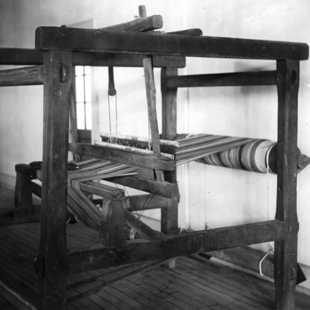 Old hand loom in Tompkins Hall