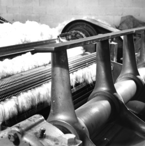 Detail view of textile machine