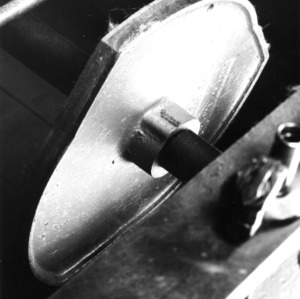 Close up view of a machine part