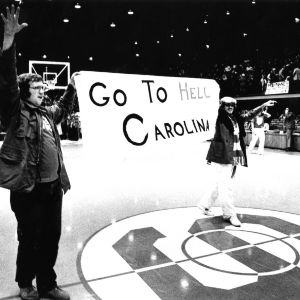 N. C. State fans at Reynolds Coliseum