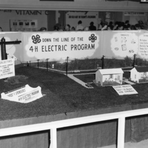 4-H club electric program exhibit at North Carolina State Fair, 1959