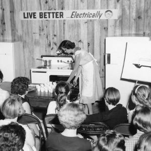 "4-H club demonstration, ""Live Better...Electrically"""