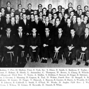 Group photo of students with names listed below
