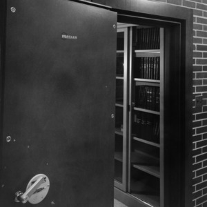 Fireproof vault provides safe storage for valuable textiles research records going back more than 40 years