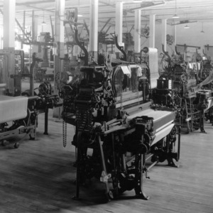 Textile machine room in Tompkins Hall