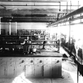 Albert H. Grimshaw and others in dyeing lab