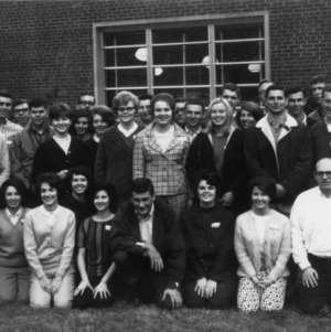 4-H club members gathering in 1967