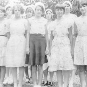 Wake County girls at state Short Course, August 1930