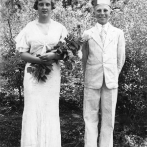 King and Queen of Health for the Garner 4-H Club, 1936