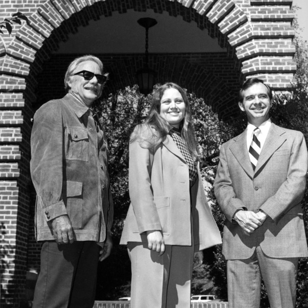 Dick Myers, Lu Anne Rogers and Chancellor Thomas