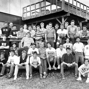 Sigma Chi fraternity group portrait