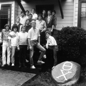 Theta Chi fraternity group portrait