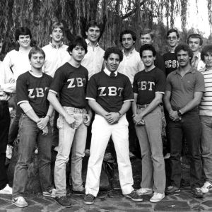 Zeta Beta Tau fraternity group portrait