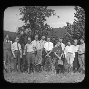 Botanical foray in mountains of Virginia, 1937