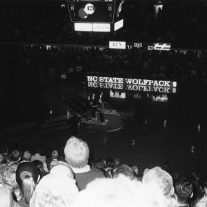 Last regular season Atlantic Coast Conference basketball game in Reynolds Coliseum vs. Florida State, 1999