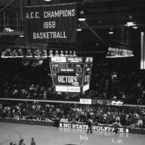 Last regular season ACC basketball game in Reynolds Coliseum vs. Florida State, 1999