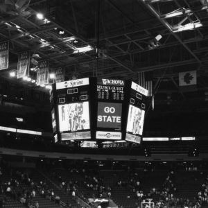 """First basketball victory in new """"ESA"""" against Georgia, 1999. The final score was 67-63"""