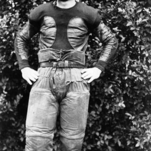 N. C. State football player Bill Wearn