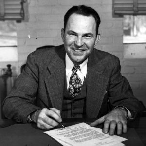 J. Bryant Kirkland at desk