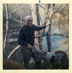 Bert Wells at Rock Cliff Farm, 1969