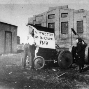 Sign for the first North Carolina State agricultural fair, 1922